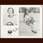 Larry Mickey Buffalo Sabres Autographed 8x10 B&W Photo – Deceased