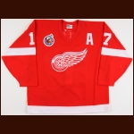 1992-93 Gerard Gallant Detroit Red Wings Game Worn Jersey - Last Detroit Jersey – Team Letter