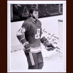 Ed Kea Atlanta Flames Autographed 8x10 B&W Photo - Deceased
