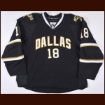 2008-09 James Neal Dallas Stars Game Worn Jersey – Rookie - Photo Match – Team Letter