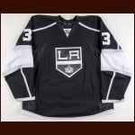 2010-11 Jack Johnson Los Angeles Kings Game Worn Jersey