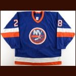 1989-90 Don Maloney New York Islanders Game Worn Jersey – The Terrence Murphy Collection – Joe Murphy Letter