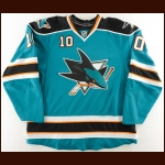 2008-09 Christian Ehrhoff San Jose Sharks Game Worn Jersey – Photo Match