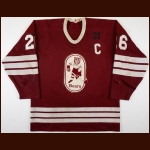 "1985-86 Don Nachbaur Hershey Bears Game Worn Jersey – ""31"" – ""50-year AHL Anniversary"" - Career Best 301 PIMS"