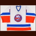 1982-83 Roland Melanson New York Islanders Game Worn Jersey – Stanley Cup Season - 2nd Team NHL All Star - William M. Jennings Trophy - Photo Match