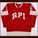 1960's R.P.I. Game Worn Jersey - Player #16