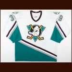 2005-06 Petr Sykora Anaheim Mighty Ducks Game Worn Jersey - Team Letter