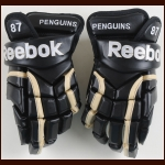 Sidney Crosby Pittsburgh Penguins Black Reebok Game Issued Gloves
