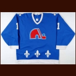Mid 1980's Richard Sevigny Quebec Nordiques Game Worn Jersey
