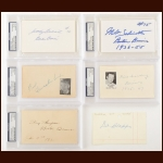 Boston Bruins Autographed Index Card Group of (6) – Bill Quackenbush, Bill Cowley, Tiny Thompson, Dit Clapper, Woody Dumart and Milt Schmidt – PSA/DNA – Deceased