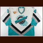 "1994-95 Marc Habscheid Las Vegas Thunder Game Worn Jersey – ""IHL 50-year Anniversary"" – ""Las Vegas 50-year IHL All Star Game"""