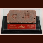 Original Montreal Forum Brick With Beautiful Display Case – Limited Edition 700/800 - Montreal Forum COA – Robert Girard COA
