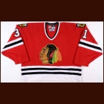 1996-97 Jeff Hackett Chicago Blackhawks Game Worn Jersey