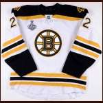 "2012-13 Shawn Thornton Boston Bruins Game Worn Jersey – ""2013 Stanley Cup Finals"" - Photo Match – Team Letter"